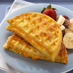 Egg and Cheese #Waffle Sandwich #bigy #breakfast