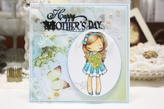 The Greeting Farm, Miss Anya Love, CC Design Make a Card #2, Made by Cindy Hoesel for Quick Creations, Mother's Day Card