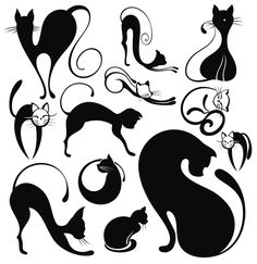 lovely Animals Vector Silhouettes 01 - Vector Animal free download