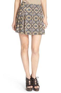 FREE PEOPLE 'Lovers Lane' Printed Miniskirt. #freepeople #cloth #