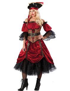 Déguisement Pirate pour femme - Premium Taille  S / M / L