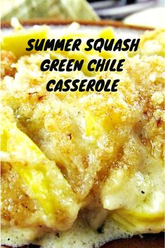 to Make the Best Squash Casserole with Green Chile-Summer Squash Recipes How to Make an Easy Summer Squash Casserole with Hatch Green Chiles!How to Make an Easy Summer Squash Casserole with Hatch Green Chiles! Yellow Squash Recipes, Summer Squash Recipes, Yellow Squash Bread Recipe, Baked Squash And Zucchini Recipes, Crookneck Squash Recipes, Fried Squash Recipes, Yellow Crookneck Squash, Green Chili Recipes, Mexican Zucchini