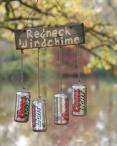 Decor Ideas Idea Box by Sensible Gardening and Living Redneck Beer Can Wind Chime. Really cute idea for a tree near the shed!Redneck Beer Can Wind Chime. Really cute idea for a tree near the shed! Redneck Christmas, Gag Gifts Christmas, Holiday Gifts, Christmas Crafts, Santa Gifts, Xmas, Holiday Quote, Redneck Crafts, Redneck Party