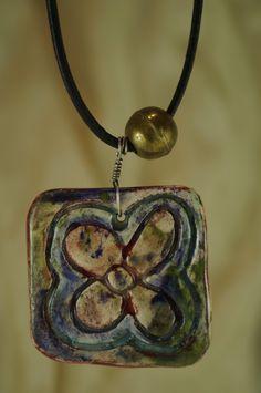 Dije de flor en cerámica esmaltada de vitrumkaleidos en Etsy