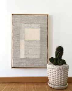 Artist and designer Noelle Sharp creates handwoven textured wall art that explores positive and negative spaces that are inspired by nature.