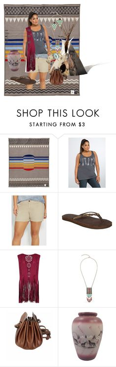 """Indian Summer (plus-size)"" by pj-cox on Polyvore featuring Pendleton, Torrid, maurices, Rainbow, Ogle and Balsamik"