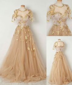 Sparkly Prom Dress, Champagne tulle long prom dress, evening dresses These 2020 prom dresses include everything from sophisticated long prom gowns to short party dresses for prom. Short Sleeve Prom Dresses, Gold Prom Dresses, Tulle Prom Dress, Ball Dresses, Ball Gowns, Formal Dresses, Short Sleeves, Half Sleeves, Dress Long
