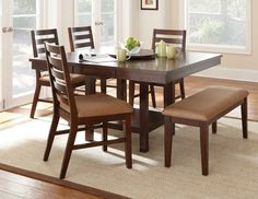 Eden Square/Rectangular Counter Height Dining Room Set by Steve Silver - Home Gallery Stores