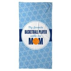 Basketball Beach Towel My Favorite Basketball Player