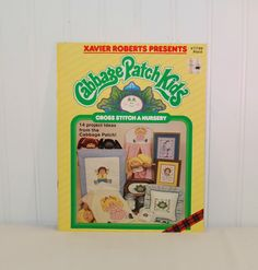 Vintage Xavier Roberts Presents Cabbage Patch Kids, Cross Stitch A Nursery (c. 1985) 14 Project Ideas, Baby Nursery, Collectible, Gift Idea by TooHipChicks on Etsy