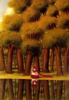 Fernando Botero (Colomb., 1932- ), Caminando cerca del río,1989