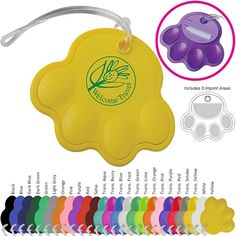 $1.19/each Promotional Dog Paw Print Luggage Tag | Customized Dog Luggage Tag