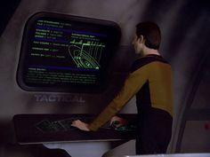 Denise Crosby, Michael Dorn, Gates McFadden, Brent Spiner, LeVar Burton, and Patrick Stewart in Star Trek: The Next Generation (1987)