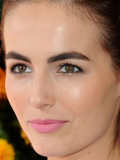 Close-up of Camilla Belle at the 2015 Veuve Clicquot Polo Classic. http://beautyeditor.ca/2015/10/26/best-beauty-looks-beyonce