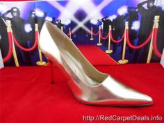Womens shoes fabulous FREDERICKS OF HOLLYWOOD Stiletto High Heel Pumps GOLD Pointy 12 M #PumpsClassics
