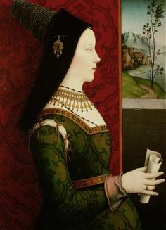 Mary of Burgundy, also called Mary the Rich (1458-1482), painted by what is believed to be Niklas Reiser.