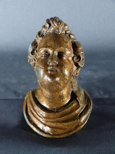 Antique for sale Chubby Cupid head Renaissance statue furniture handle or ornament Mask Head Sculpture Fine arts architecture