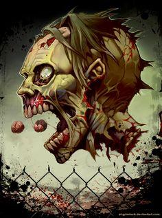 Pac-zombie 2 by el-grimlock.deviantart.com on @deviantART Mauricio Herrera