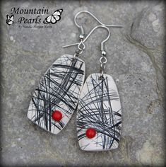 https://flic.kr/p/M1eVxh | Polymer clay earrings | www.facebook.com/mountain.pearls inspired by Bettina Welker