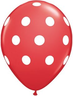 "Red Polka Dot 11"" Balloons"