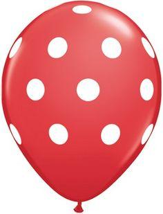 "Red Polka Dot 11"" Balloons"