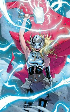 Thor, the Asgardian God of Thunder became a Goddess last year but her identity was kept under the wraps, till now. Thor became a Goddess in a rebooted Thor but Thor. Ms Marvel, Marvel Girls, Marvel Heroes, Marvel Women, Comic Book Characters, Comic Character, Comic Books Art, Comic Art, Marvel Characters Female