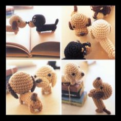 @mea Please make these too!  Ami ami dogs- little crochet pup!