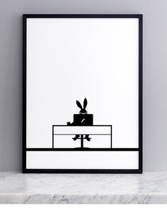 Working Rabbit Screen Print