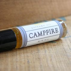 A reason to eat s'mores everyday. Campfire Perfume Oil