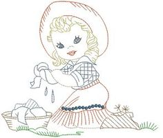 Western Kids in Color - Machine Embroidery Designs at Splinters & Threads
