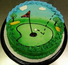Golf Cake DQ Dairy Queen Ice Cream Cake