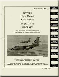 Mc Donnell Douglas EA-3B , TA-3B Aircraft Flight  Manual NAVWEPS 01-40ATD-1 ,  1967