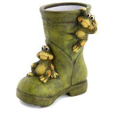 Ceramic frog - boot