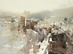 Taipei Miramar / 台北美麗華 Watercolour demo by Chien Chung-Wei,27X36 cm . #watercolor jd