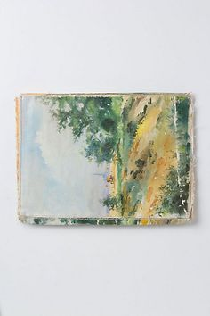 Brushstrokes Still Life Clutch - Back