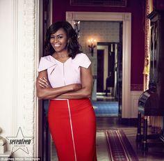 accras: First Lady Michelle Obama in Seventeen Magazine, May 2016 Michelle Obama Flotus, Michelle Obama Fashion, Barack And Michelle, Joe Biden, Blake Lively, Durham, Barack Obama Family, Malia And Sasha, American First Ladies