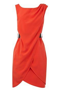 Karen Millen Red Shift Dress Womens
