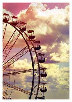 Ferris wheel against pastel sky Fun Park, Trois Crayons, Farris Wheel, Carnival Rides, Pretty Pastel, Photos, Pictures, Art Photography, Carnival Photography