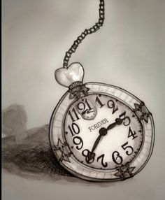 Alice in Wonderland clock tattoo idea