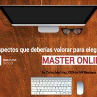Cómo elegir tu Master Online