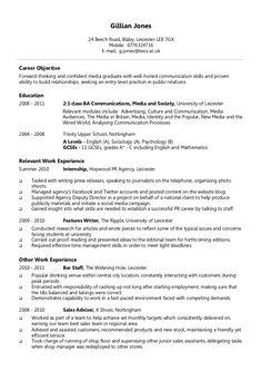 English CV Sample Writing Your Curriculum Vitae resume