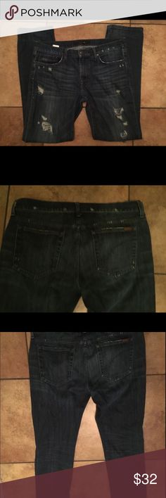 Joe's Jeans 36x32 Mens slim straight destroyed The Brixton Fit Men's Joe's Jeans destroyed denim in perfect condition! Joe's Jeans Jeans Slim Straight