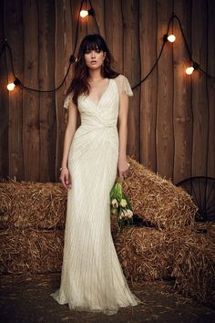 Dottie a beautifully embellished vintage inspired wedding dress from Jenny Packham's Spring 2017 Bridal Collection