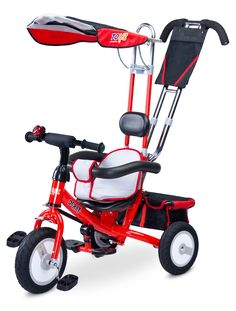 High quality trike for children up to 5 years old (up to 25 kg). Multifunctional with silent rubber wheels, hood, safety barrier, big basket. Derby, Tricycle, Big Basket, Red High, New Product, Baby Strollers, This Or That Questions, 5 Years, Products