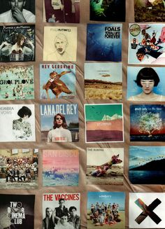 matt corby, lana del rey, florence and the machine, the xx, two door cinema club, mumford and sons, kimbra, the jezabels