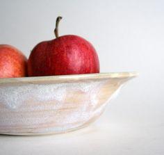 Love this! White Porcelain Serving Bowl by Thelittlereddoor on Etsy