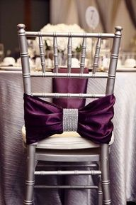 Love the grey chair and have one table with that purple and another with Aqua bows