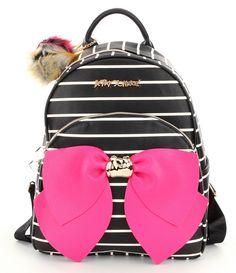 Betsey Johnson Striped Bow Backpack Betsy Johnson Purses b76e91756fbad