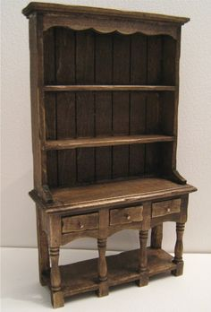 Kitchen Hutch or Dresser twelfth scale by Insomesmallwayminis, $17.50