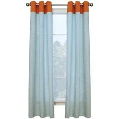 NEED TO FIND SOME LIKE THIS BUT WITH DEEPER BLUE! Style Selections�84-in L Tangerine Kingston Curtain Panel-Allen & Roth  @ lowes